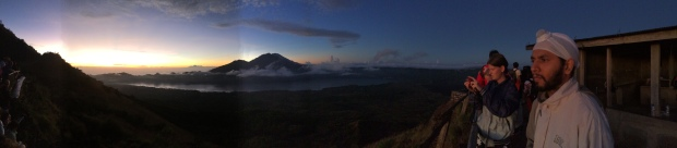 Sunrise on top of the volcano!