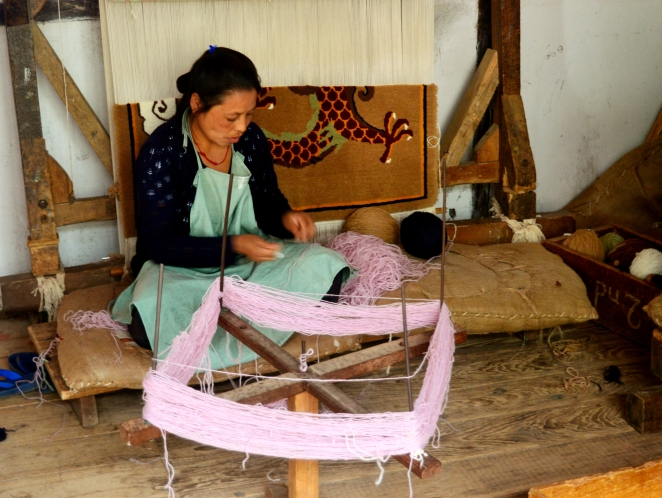 Rs.100 a day to them and they learn a skill- carpet weaving; an initiative by the Sikkim government to protect the local arts & crafts