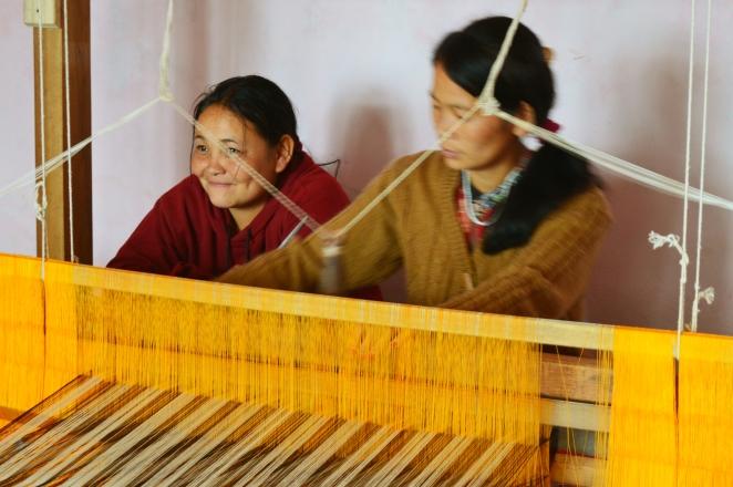 Handloom weaving in Sikkim