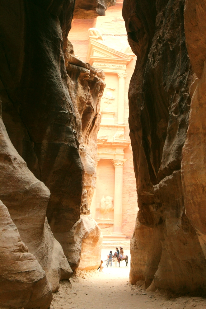 Petra- Treasury view through the Siq