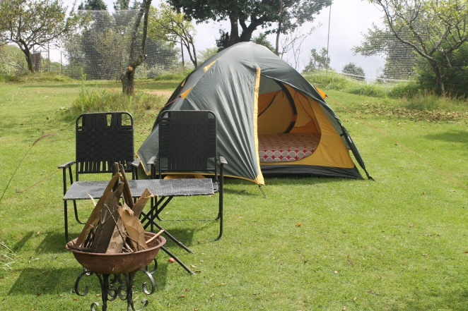 Campsite at The Terraces, Kanatal