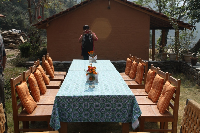 the terraces kanatal homestays lunch